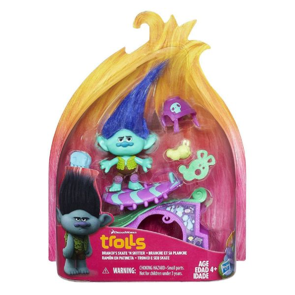 Dreamworks Trolls Story Pack Figure Playset, Poppy, Maddy or Branch